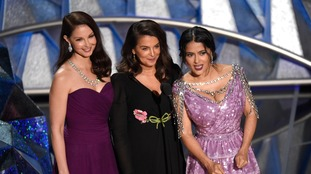 Ashley Judd, Annabella Sciorra and Salma Hayek.