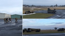 Military support arrives in Cumbria