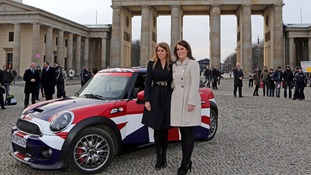 Princess Beatrice (left) and Princess Eugenie, during the launch of the Great Britain Mini tour in Berlin