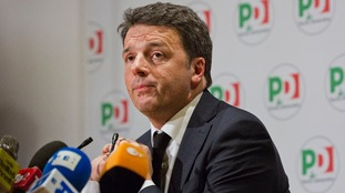 Matteo Renzi admitted his centre-left Democratic Party had suffered a 'total defeat'.