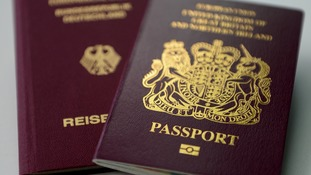 British and German EU-style passports