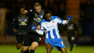 Former Colchester United player went sent off after some confusion surrounding his name