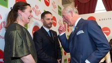 The Prince of Wales meets Olivia Colman and Tom Hardy at the Prince's Trust Awards at the London Palladium.