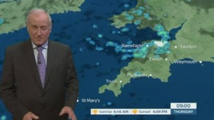 Wave of showers flowing through the South West