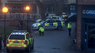 Police officers at the scene immediately after the attack on Mr Skripal and his daughter.