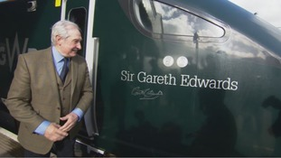 Welsh sporting greats honoured after having train named after them