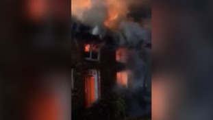 Thatched cottages destroyed in fire near Exeter