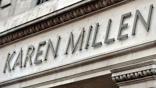 Karen Millen were fined for failing to pay staff minimum wage.