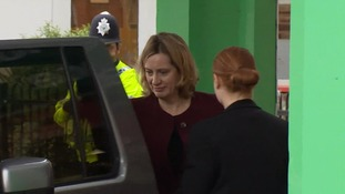 Ms Rudd was filmed heading into Salisbury District Hospital