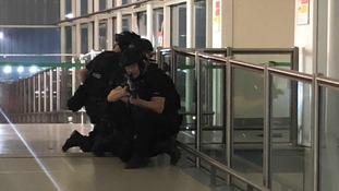The drill was carried out in the terminal building.