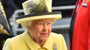 The Queen at the 2017 Commonwealth Day service.