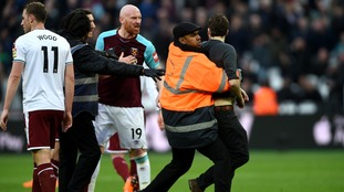 Burnley win convincingly amid ugly scenes at West Ham