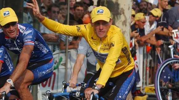 Armstrong in Paris after the 2002 Tour de France
