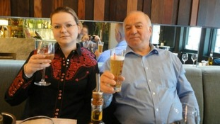 Sergei Skripal and his daughter Yulia at the Zizzi restaurant in Salisbury.