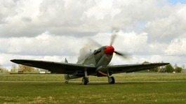 Spitfire seen at RAF Thruxton