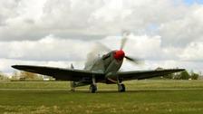 Spitfire seen at RAF Thruxton