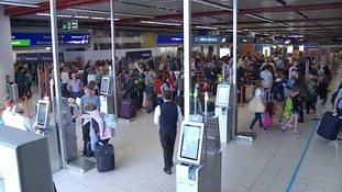 Passengers at London Luton Airport