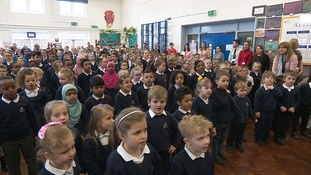 Pupils singing at Kings Heath Primary Academy