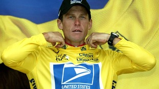 Lance Armstrong at the 2003 Tour de France