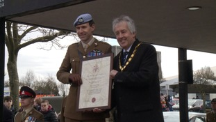 The honour was awarded at a ceremony on Sunday.