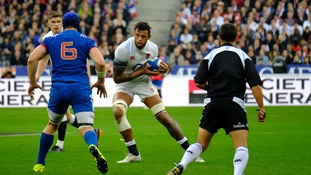 Courtney Lawes was injured in England's loss against France.