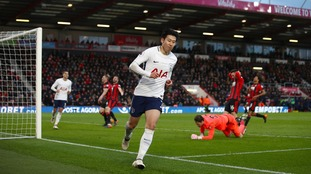 A Son-Heung min double saw Spurs leapfrog Liverpool into third with a resounding win over Bournemouth