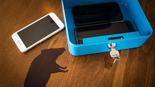 Customers will lock their phones away in cash boxes on the tables.