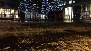 Snow in Spinningfields