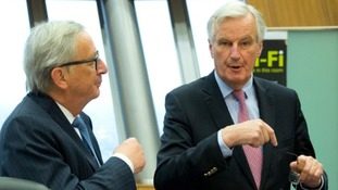 President of European Commission Jean-Claude Juncker and EU chief Brexit negotiator Michel Barnier