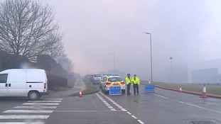 Man arrested on suspicion of arson over Daventry warehouse fire