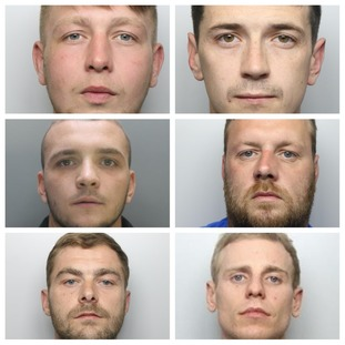 Matthew Baldock, Max Hampson, Jarod Jones, Christopher Morris, Ashley Mercer and James Wright.