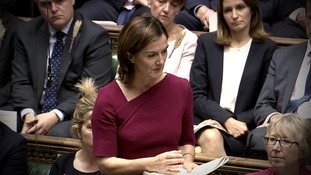 Lucy Allen MP in the House of Commons.
