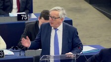 Jean Claude Junker says the Irish border is an EU issue.