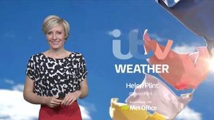 Helen Plint has today's weather