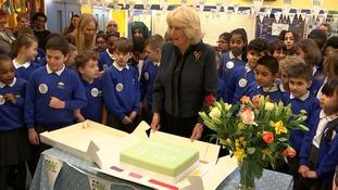 Camilla and a cake