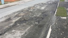 Potholes in Grantham