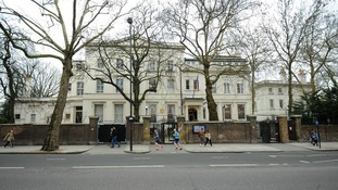 The Russian embassy in London.