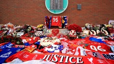 Memorials to the victims of the Hillsborough disaster