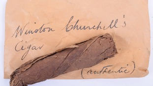 Churchill's half-smoked cigar goes for £550 at auction