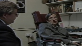 Lawrence McGinty, interviewing Stephen Hawking