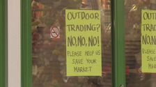 Scunthorpe Market traders opposed plans for their stalls to be moved outside.