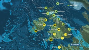 Weather: Rain in the north and east, with hill snow likely for eastern Scotland