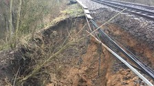 Trains suspended after landslip in Essex