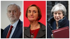 Jeremy Corbyn, Nia Griffith, and Theresa May