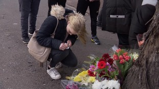 Tributes have been laid at the scene where two teenagers died on Tuesday.