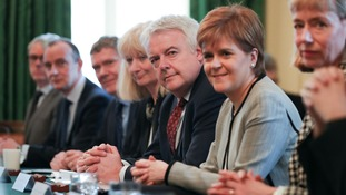 Carwyn Jones and Nicola Sturgeon at the JMC meeting in Downing Street