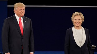 Donald rump and Hillary Clinton ahead of the Presidential elections