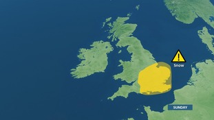 Risk of snow showers on Sunday