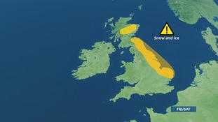 Risk of snow showers on Friday and Saturday