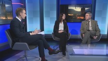 Paul Brand and guests (l-r):  Sue Hayman MP (Workington, Lab) and Robert Goodwill MP (Scarborough & Whitby, Con).